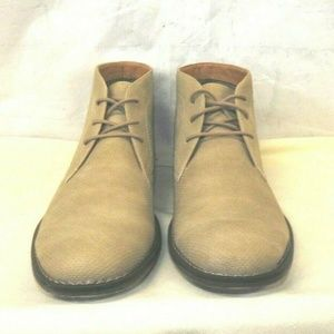Mens Chukka Ankle Boots Textured Light Tan